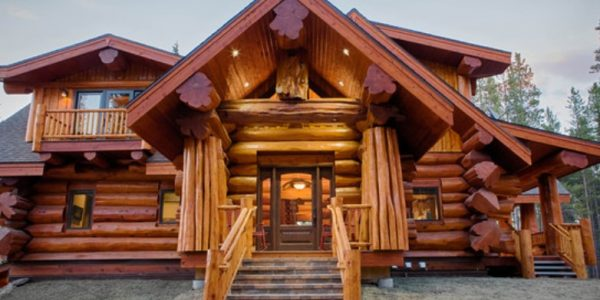 luxury log homes four myths to debunk i love log homes. Black Bedroom Furniture Sets. Home Design Ideas