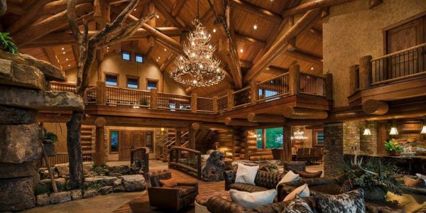 Epic Log Home Interiors Part 59