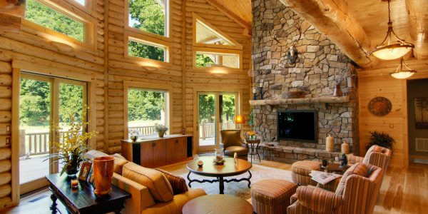log homes interior